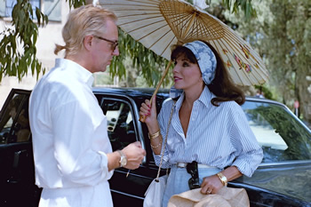 "Directing Joan Collins in the grounds of Chateau Minuty, Gassin, France. ""Joan was extraordinary. Her strength, her skill and her professionalism were humbling ..."""